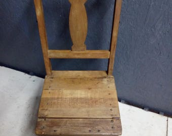 Very Rare Metamorphic Library Steps Chair