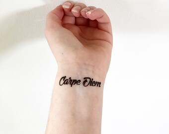 Carpe Diem - Temporary Tattoo