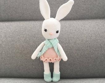 PATTERN - Jenny The Bunny - amigurumi pattern, crochet pattern, PDF