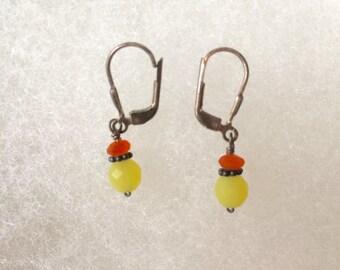 Key lime pie earrings