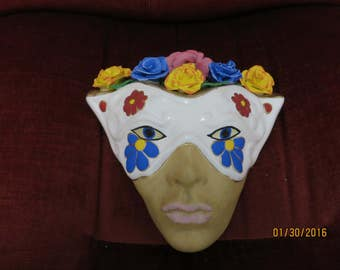 Handmade mask with roses