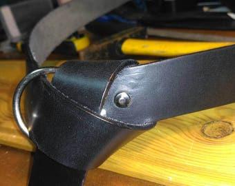 Medieval leather belt.