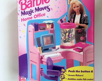 Vintage Barbie Magic Moves Home Office-Mattel-67155-1994-NOS-Unopened-Doll Not Included