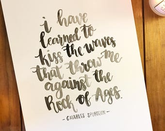 Handmade Calligraphy Quote - Watercolor Paint