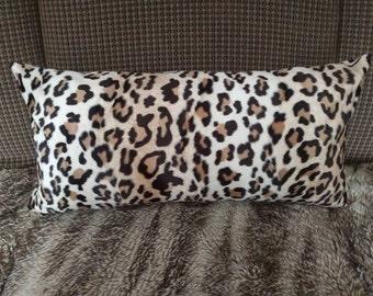 """12"""" x 24"""" Faux Leopard Pillow Cover"""