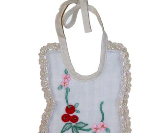 Vintage Lace & Embroidery Bib