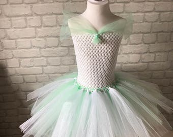 White and turquoise fairy dress