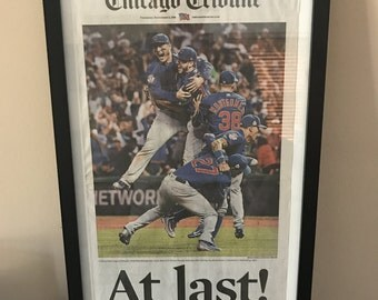 Chicago Tribune Cubs World Series 2016