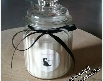 Candle candy scented soy wax