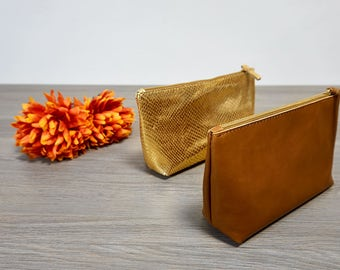 Ladies gold leather door Kit tricks