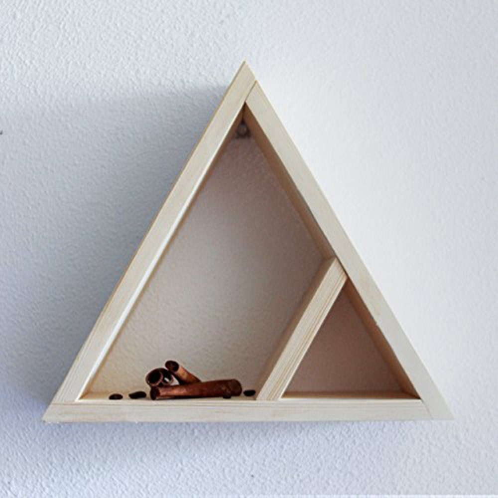 Triangle shelf wall shelves geometric shelves wooden zoom amipublicfo Gallery