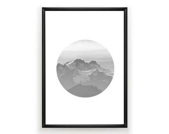 Mountains Photo, Mountains Photography, Mountains Poster, Digital Prints, Black and White Photography, Home Decor, Instant Download, Art,