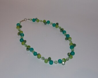 Necklace Pearl Green
