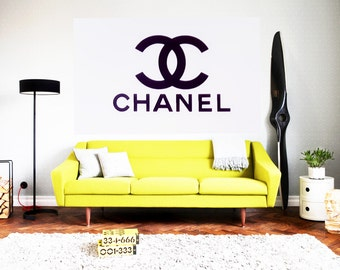 "15""-65"" Chanel mural Chanel wall decals Chanel decor Wall decals Chanel decor Wallpaper"
