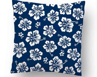 Hawaiian Tropical Hibiscus Flowers Pillow Cover FREE SHIPPING
