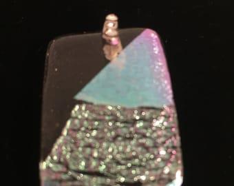 Crystal clear/dichroic pendant