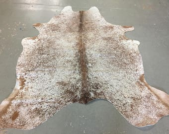 Longhorn Red & White Cowhide Rug | FREE SHIPPING