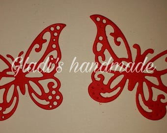 50 carved colored butterflies