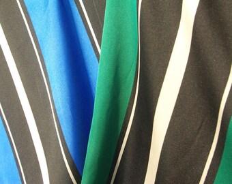 Stripe Print Satin Fabric