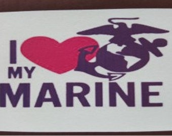 I Love My Marine Cell Phone Case