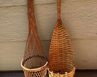 Set of 2 wicker plant holders
