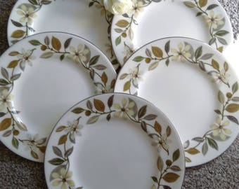 Set Of 5 Vintage Wedgewood Beaconsfield Side/Tea Plate