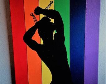 Gay Pride Art, Chained To Pride Art, Gay Pride Painting, Gay Pride, Pride Creations, Gay Art, Pride Art, Rainbow Art, Rainbow, Gay Male Art