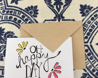 oh happy day! card