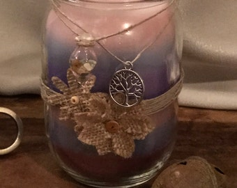 Hand Crafted Mason Jar Candle, 16 oz, Day At The Spa