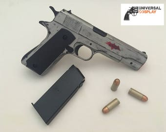 Red Hood's Pistol - M1911 Colt 45 - Realistic Prop Toy Gun for Cosplay Costume w/Magazine + Bullets