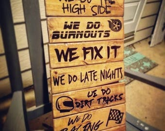 We Do Racing - Pallet Sign