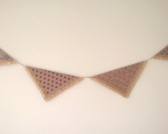 Handmade Rustic-Chic Party Bunting - Pattern 4