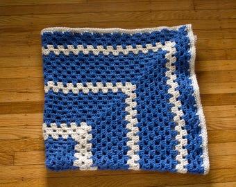 Crochet baby blanket, granny square blanket, granny square afghan