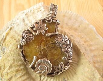 Silver Pendant Ammonite