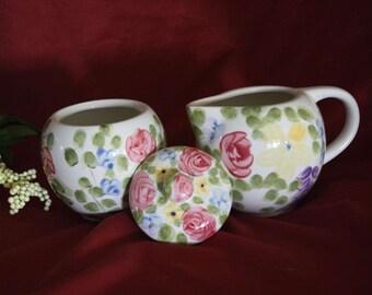 Creamer and Sugar Bowl Set Tabletops Valentino