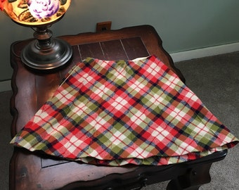 Retro plaid skirt size XS