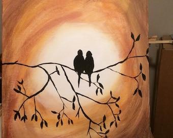 Love Birds silhouette