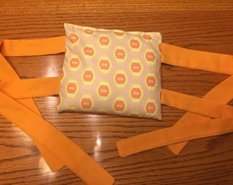 Square Hot/Cold Rice Pack with Ties