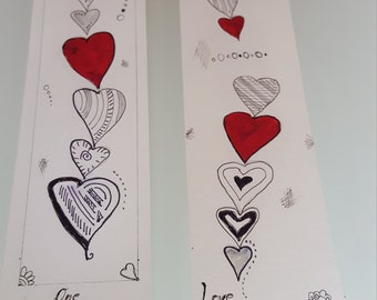 "Set bookmarks 2 series ""LOVE"""
