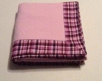 Baby/Receiving Blanket, Purple Plaid