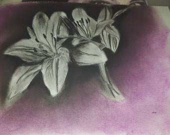 Original Charcoal and pastel piece