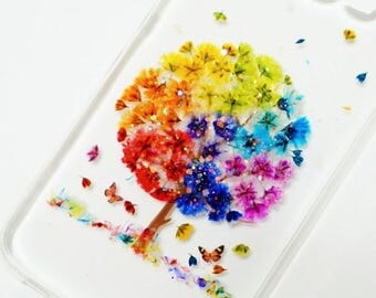 Popping Popcorn, Pressed flower phone case, Pressed flower iPhone case, samsung case, Real flower case, Phone case