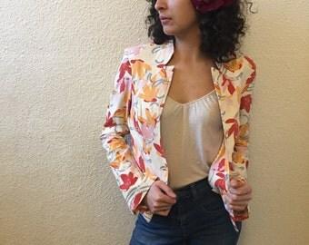 Vintage Sisley Floral Tailored Jacket