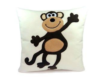 Cute monkey | Decorative pillow monkey | Monkey cushion - SoftDecor