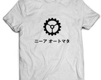 NieR:Automata Japanese Logo Unisex T-Shirt White Cotton