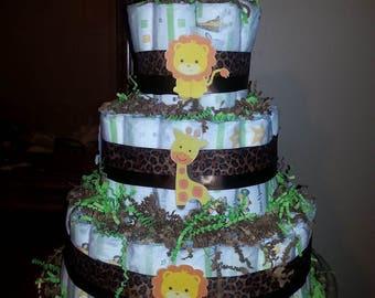 Diaper cake - safari theme