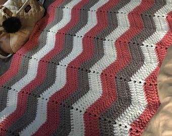 Hand made chevron rug