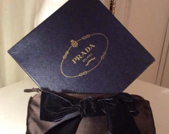 Prada vintage clutch bag with bow