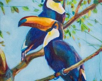 Original Acrylic Toucan Bird Painting