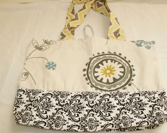 Grocery bag, tote, beach bag, market bag, cotton bag.